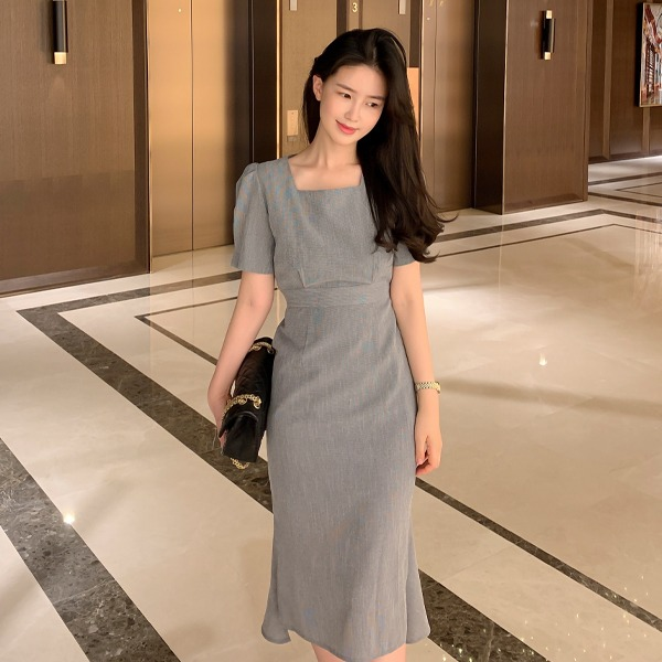 benito-로엠 체크 원피스신상/체크/썸머/기본/하객/하객룩/무지/베스트/여성/데일리♡韓國女裝連身裙
