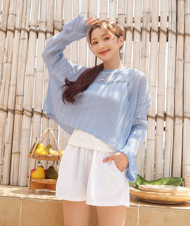 kikiko-썸머비치니트♡韓國女裝上衣