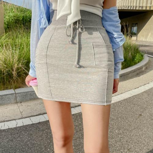 zanne-[LEXY] 딱붙 스티치 밴딩 미니 스커트 - 잔느♡韓國女裝裙