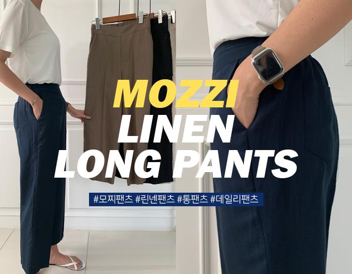 ssunny-[[SS]모찌 air 14탄 린넨 와이드일자 뒷밴딩팬츠(2size)]♡韓國女裝褲