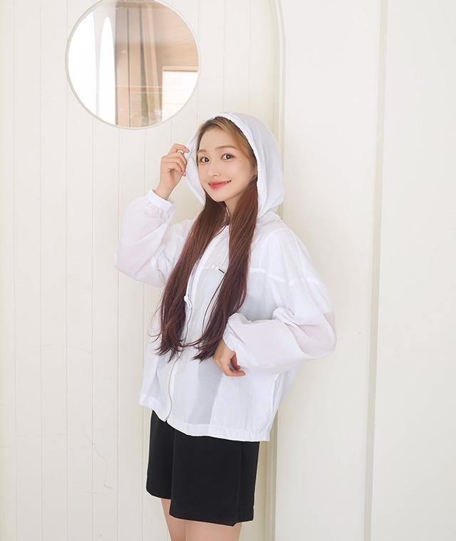 kikiko-썸머바스락후드JP♡韓國女裝外套