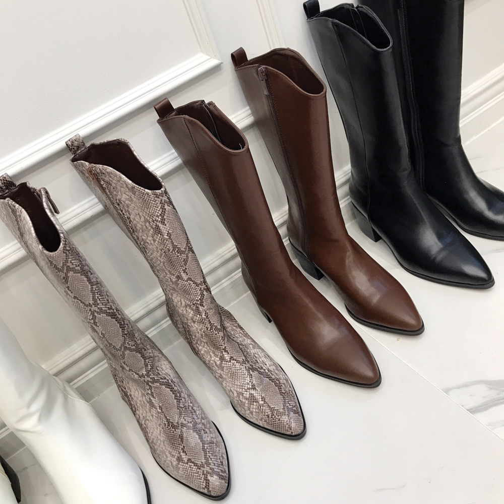 uinme-제이 하프 웨스턴 부츠 - [ 4color ] - 유인미제이 하프 웨스턴 부츠 - [ 4color ] - 유인미♡韓國女裝鞋