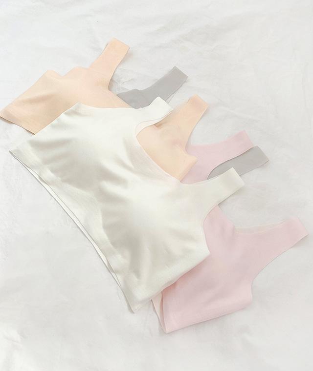 kikiko-[1단계]베이직심리스브라탑♡韓國女裝胸圍上衣