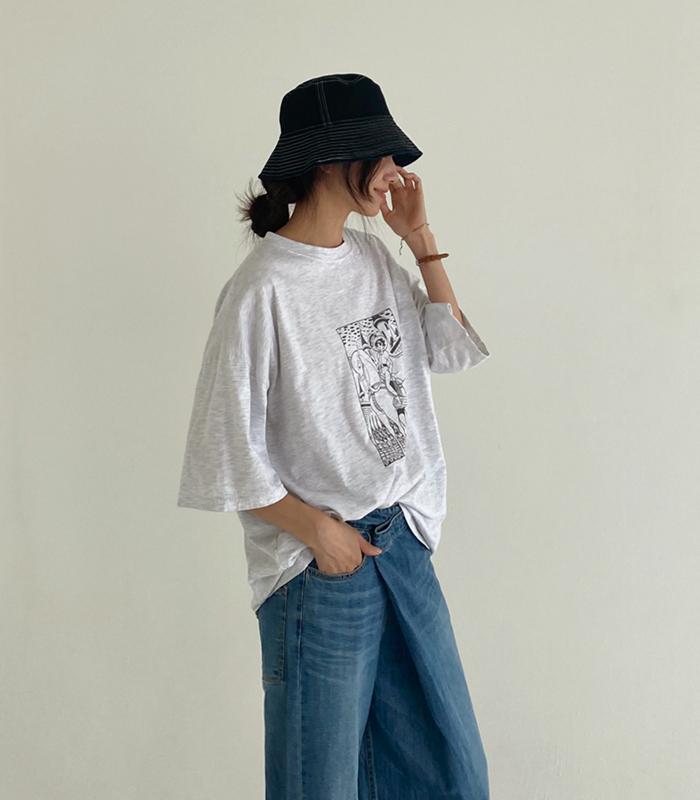sibuya-[조이 카툰 티셔츠]♡韓國女裝上衣