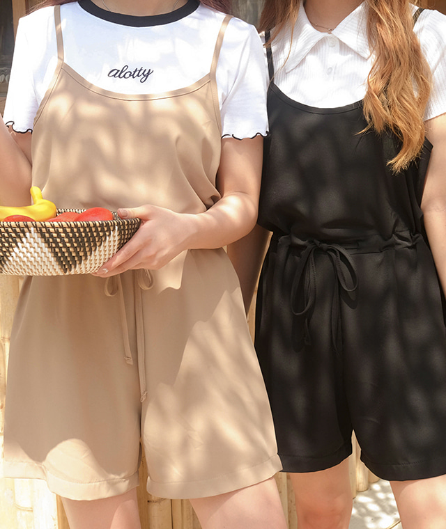 kikiko-[FOMINI]썸머쿨점프슈트♡韓國女裝褲