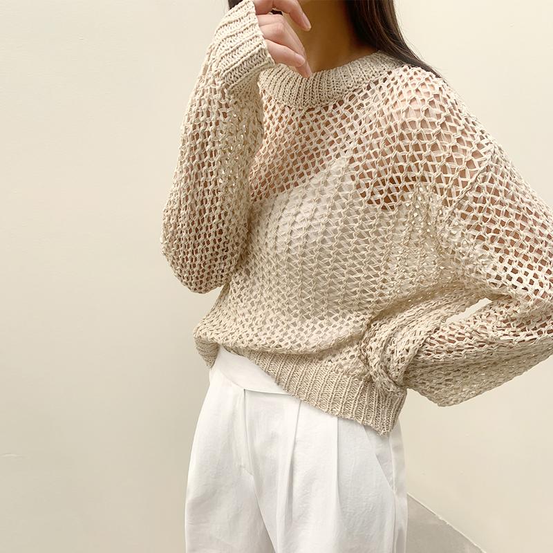 45th-비치그물니트 ♡韓國女裝上衣