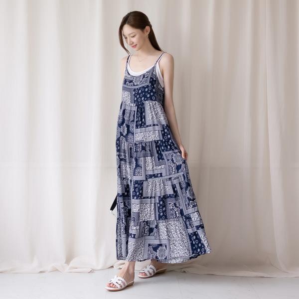 misscandy-[no.20803 페이즐리 뷔스티에 캉캉원피스]♡韓國女裝連身裙
