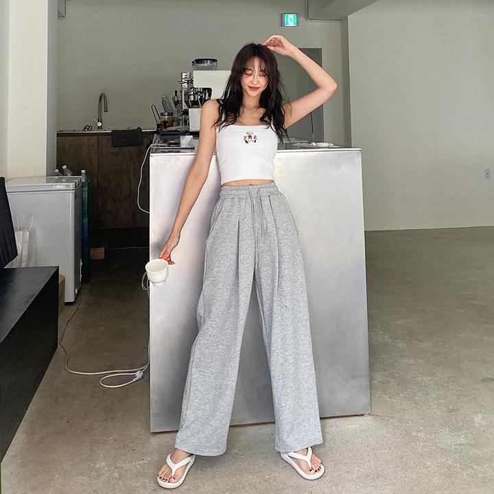 lagirl-핀턱밴딩와이드팬츠-pt♡韓國女裝褲