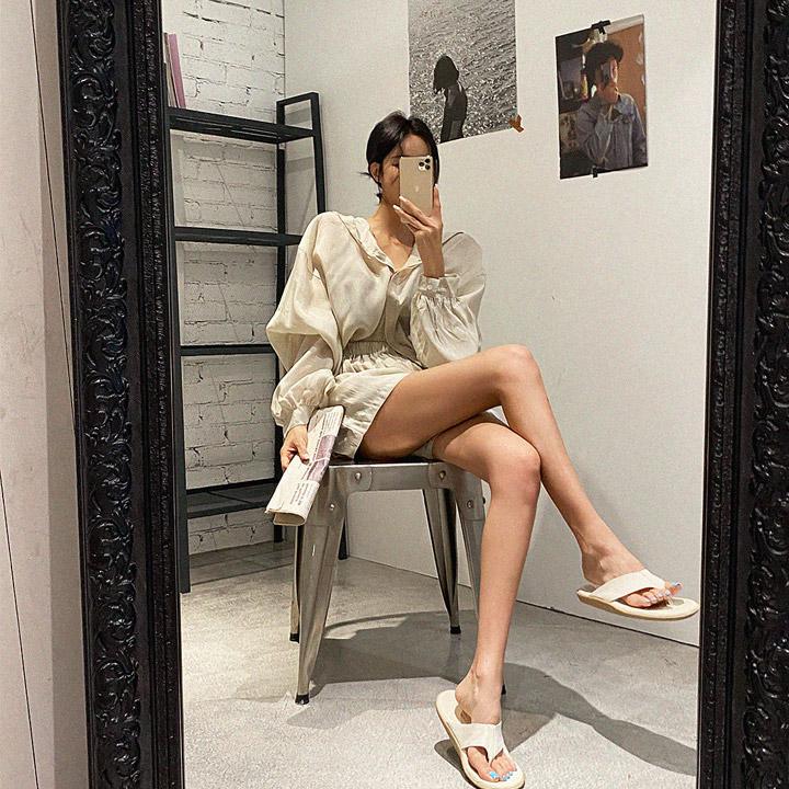 lagirl-썸머이지후드반바지세트-set♡韓國女裝套裝