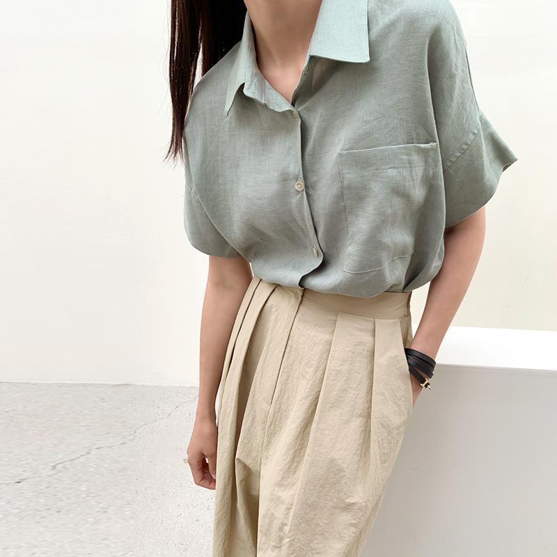 45th-퍼실린넨셔츠 ♡韓國女裝上衣