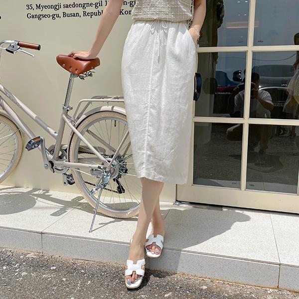 canmart-[요루린넨스커트 C072101]♡韓國女裝裙