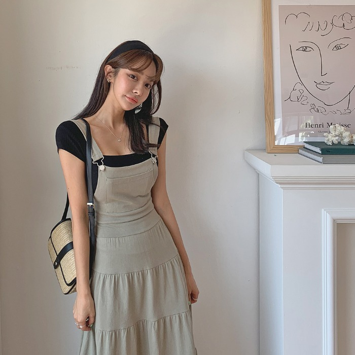 theresheis-브리슨 스퀘어넥 티셔츠♡韓國女裝上衣