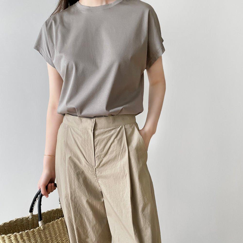littleblack-러빗 심플 캡소매 티셔츠(3C)♡韓國女裝上衣