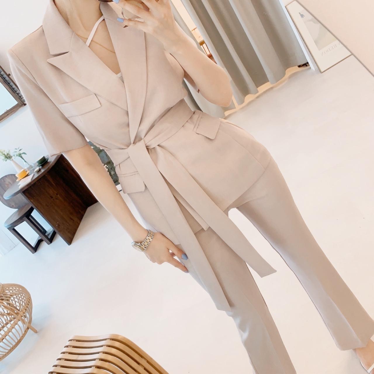 uinme-로즈 린넨 투피스 SET - [ 3color ] - 유인미로즈 린넨 투피스 SET - [ 3color ] - 유인미♡韓國女裝套裝