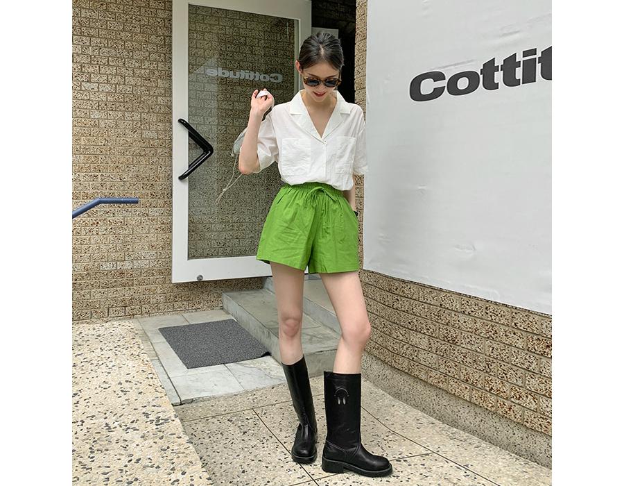 frombeginning-팔레트 린넨밴딩쇼츠 (6color)♡韓國女裝褲