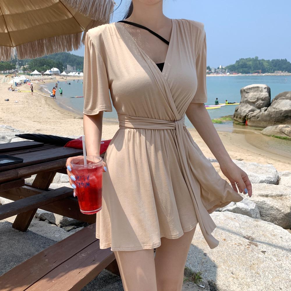uinme-(끈SET) 제시 반팔 점프슈트 - [ 3color ] - 유인미(끈SET) 제시 반팔 점프슈트 - [ 3color ] - 유인미♡韓國女裝連身裙