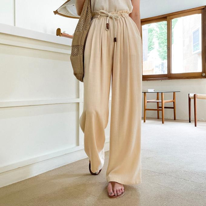 wingsmall-이플리아(네츄럴벨트팬츠)♡韓國女裝褲
