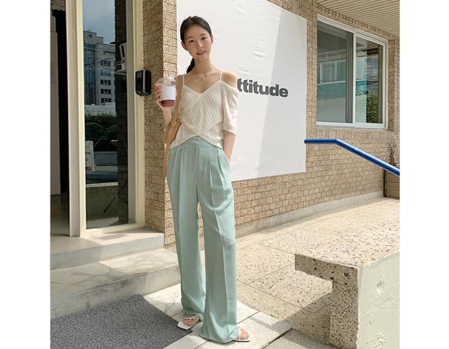 frombeginning-파스텔 핀턱일자슬랙스 (3color)♡韓國女裝褲