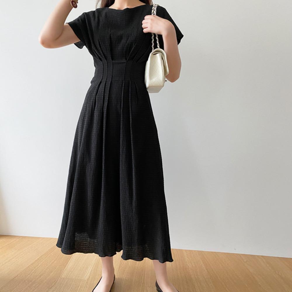 littleblack-스모크 블랙 원피스♡韓國女裝連身裙