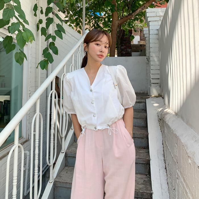 theresheis-리즈아 퍼프 크롭 자켓♡韓國女裝外套