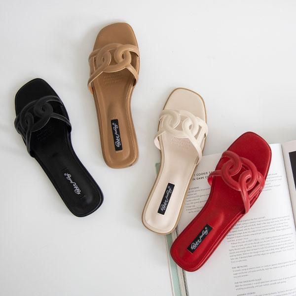 misscandy-[no.20799 써클크로스 볼드스트랩 플랫샌들]♡韓國女裝鞋