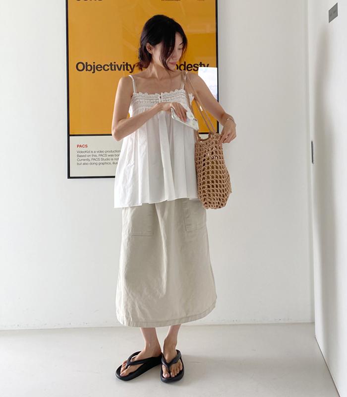 sibuya-[스퀘어 포켓 워싱 SK]♡韓國女裝裙