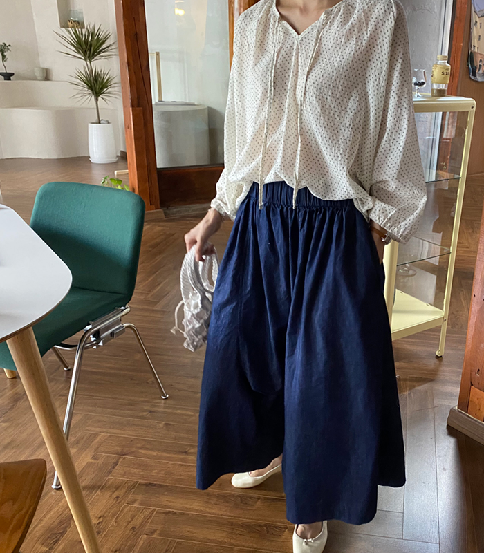 sibuya-[해지데님 와이드팬츠]♡韓國女裝褲