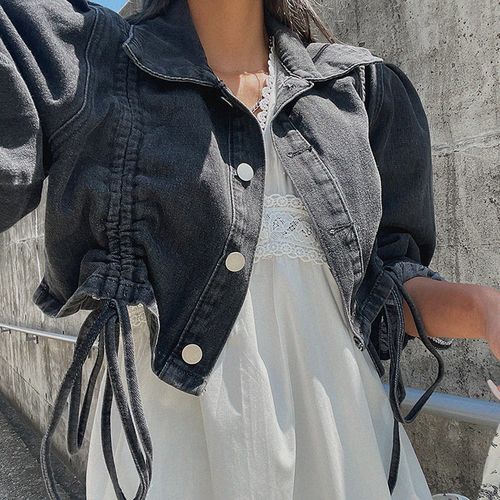 lagirl-퍼프셔링청자켓-jk♡韓國女裝外套