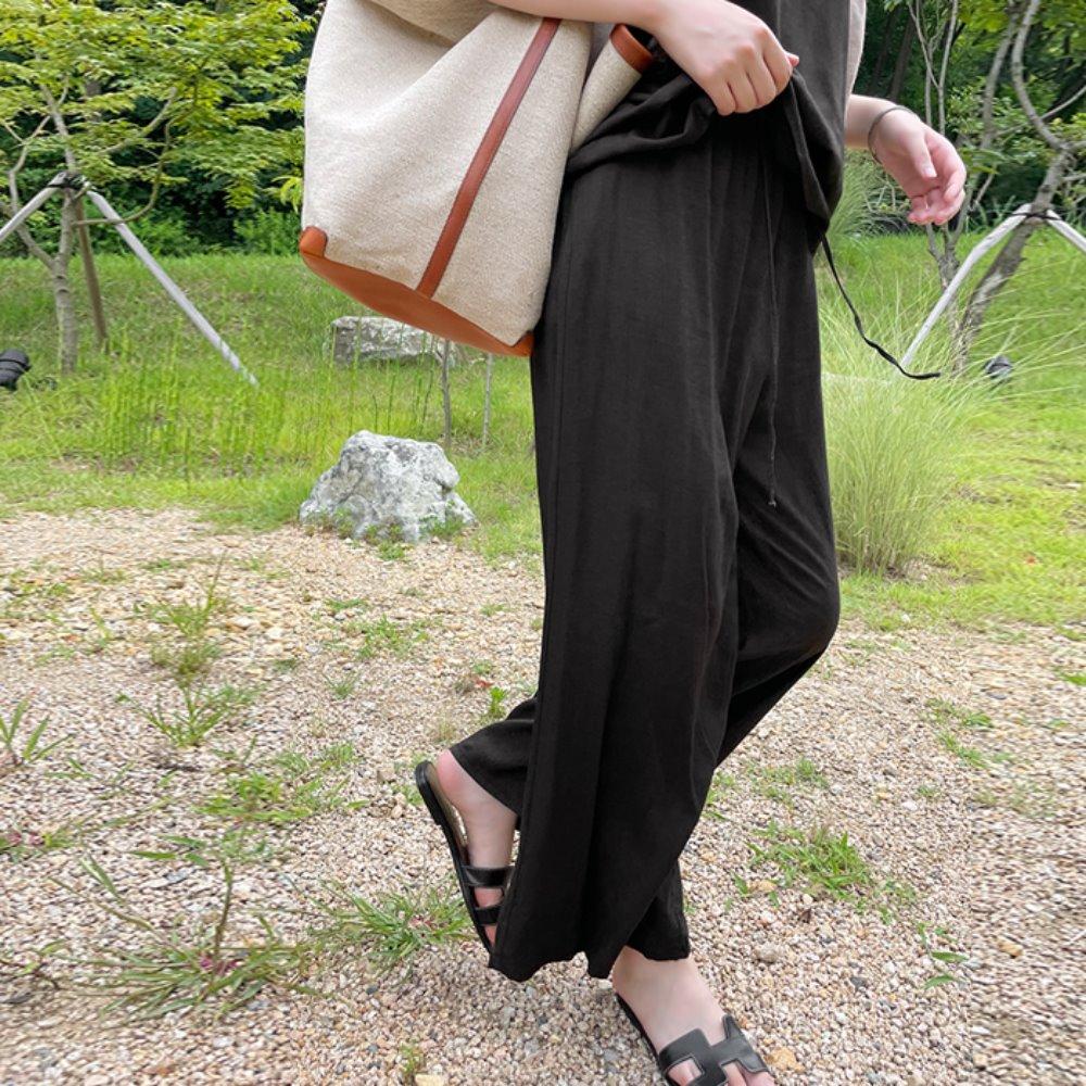 littleblack-프리 밴딩 팬츠(린넨 혼방)♡韓國女裝褲