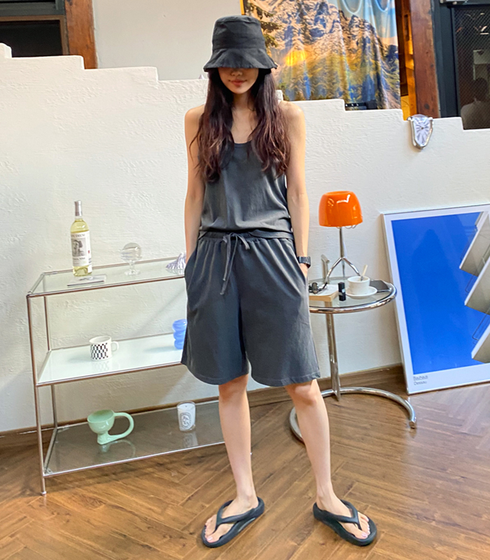 sibuya-[피그먼트 트레잉 set]♡韓國女裝套裝