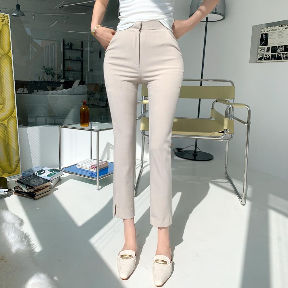 uinme-린넨 쫀득 슬랙스 - [ 2color ] - 유인미린넨 쫀득 슬랙스 - [ 2color ] - 유인미♡韓國女裝上衣