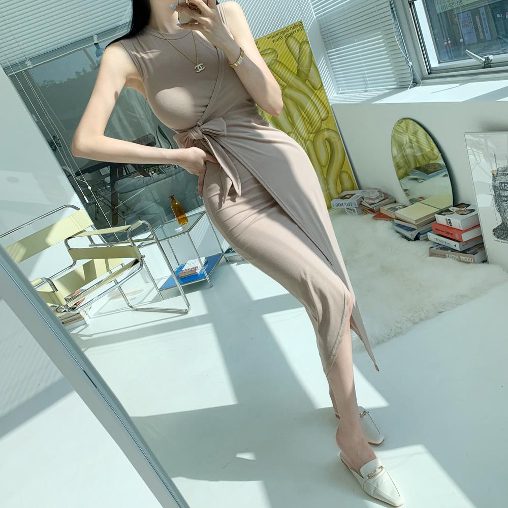 uinme-바네사 트임 랩원피스 - [ 2color ] - 유인미바네사 트임 랩원피스 - [ 2color ] - 유인미♡韓國女裝連身裙