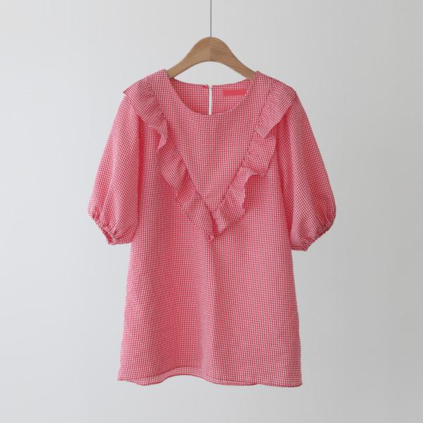 mariangplus-[P] 마론즈 프릴 블라우스 P_T596♡韓國女裝上衣