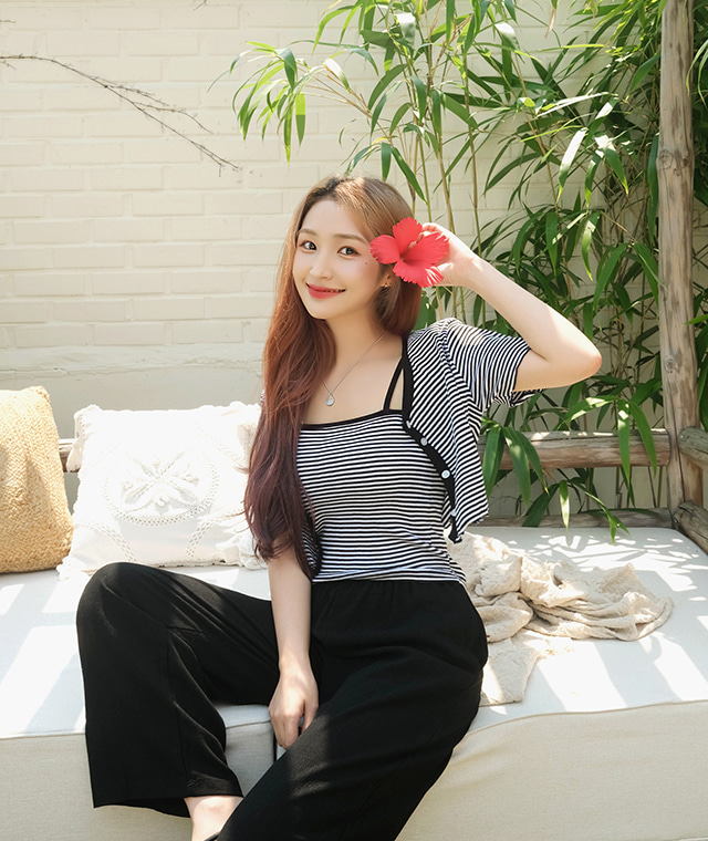 kikiko-단가라나시가디건SET♡韓國女裝外套