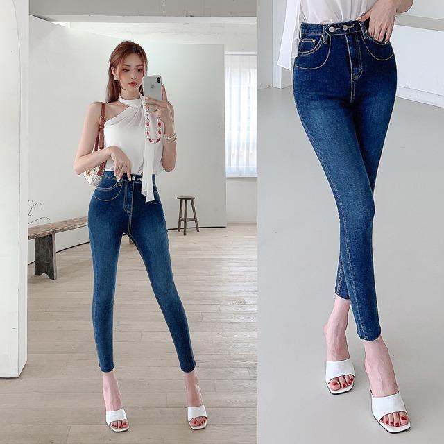 sweetglam-JC-1060 키로 투버튼 스키니♡韓國女裝褲