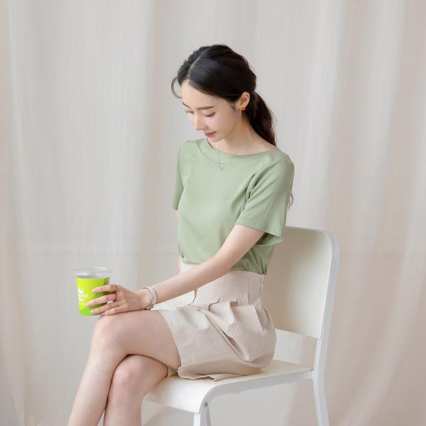 misscandy-[no.20805 레이온+스판 보트넥 세로골지 니트탑]♡韓國女裝上衣