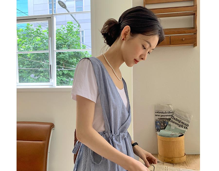 frombeginning-써클 젬스톤귀걸이 (3color)♡韓國女裝飾品
