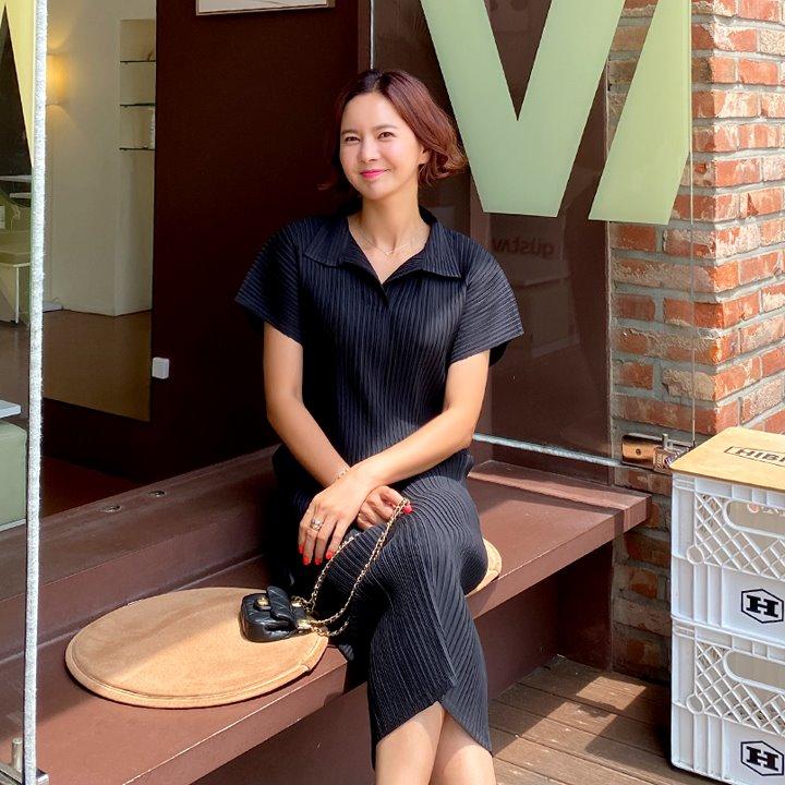 lemite-카라플리츠 원피스♡韓國女裝連身裙