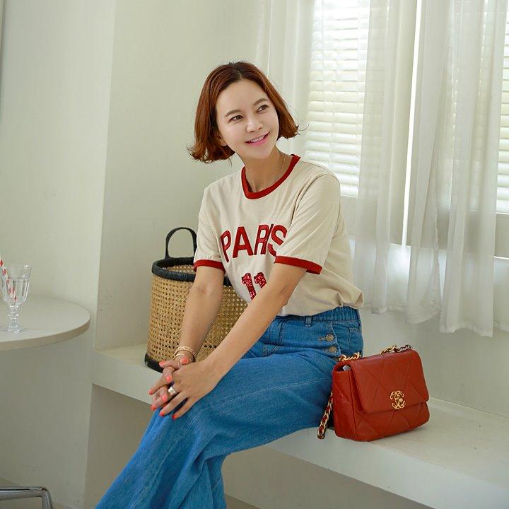 lemite-일레븐 스팽글티♡韓國女裝上衣