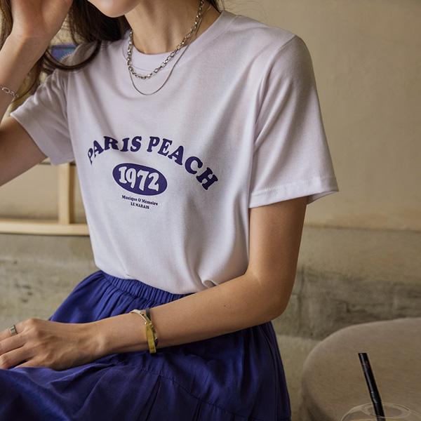 chicfox-페리피치 반팔티셔츠♡韓國女裝上衣