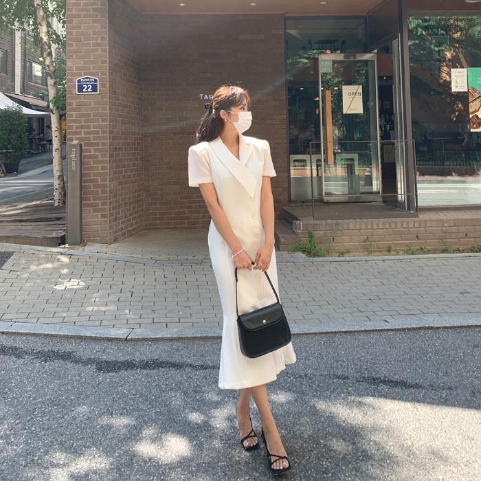 theresheis-라데즈 카라 롱 원피스♡韓國女裝連身裙