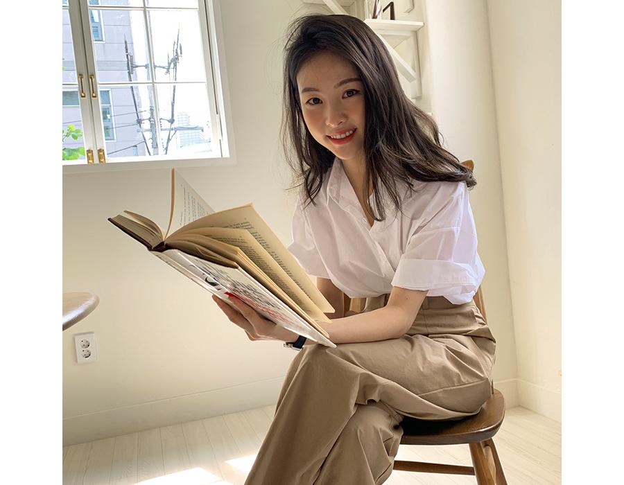 frombeginning-소프트컬러 루즈반팔셔츠 (5color)♡韓國女裝上衣