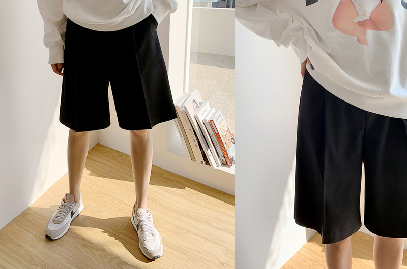 45th-벨트5부팬츠 ♡韓國女裝褲