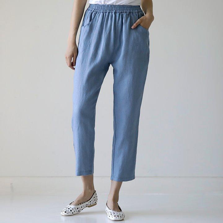 lemite-배기의 즐거움팬츠(린넨70%)♡韓國女裝褲