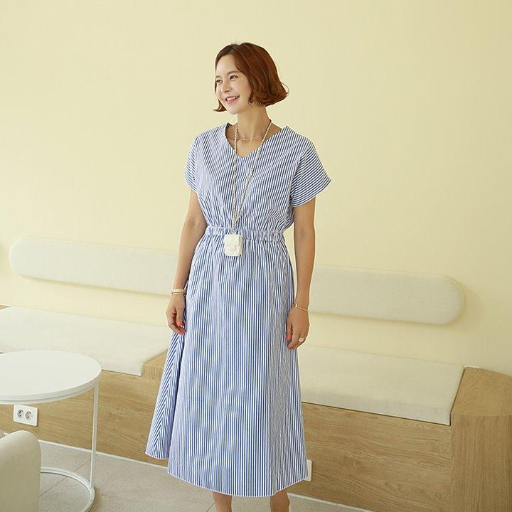 lemite-아델 스트라이프원피스♡韓國女裝連身裙