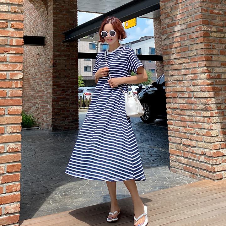 lemite-단가라훌 원피스♡韓國女裝連身裙