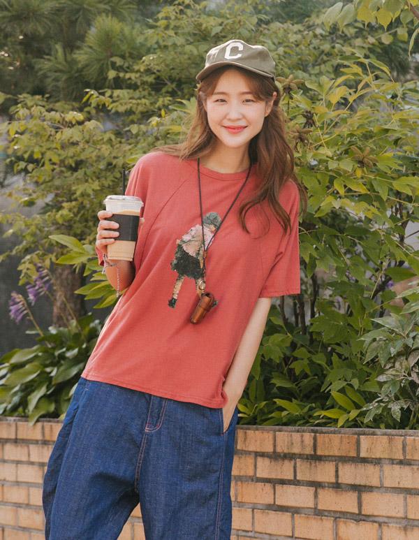 goroke-[레이 자몽T *2c]♡韓國女裝上衣