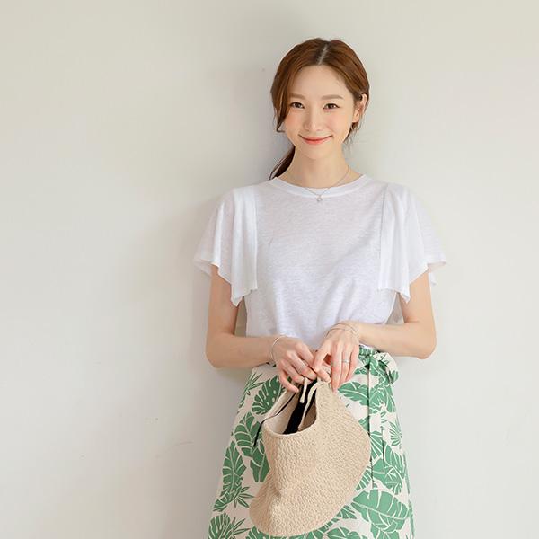 misscandy-[no.20810 린넨+레이온 날개소매 티셔츠]♡韓國女裝上衣