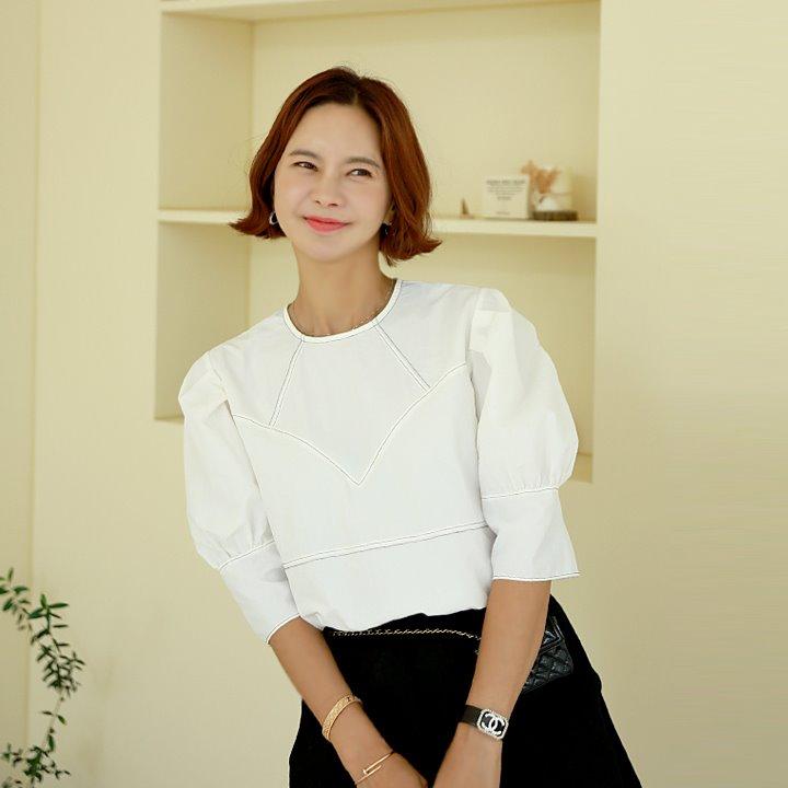 lemite-파스타 벌룬블라우스♡韓國女裝上衣