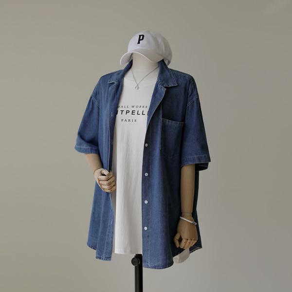 mariangplus-[P] 루벨로 데님 셔츠 P_T600♡韓國女裝上衣